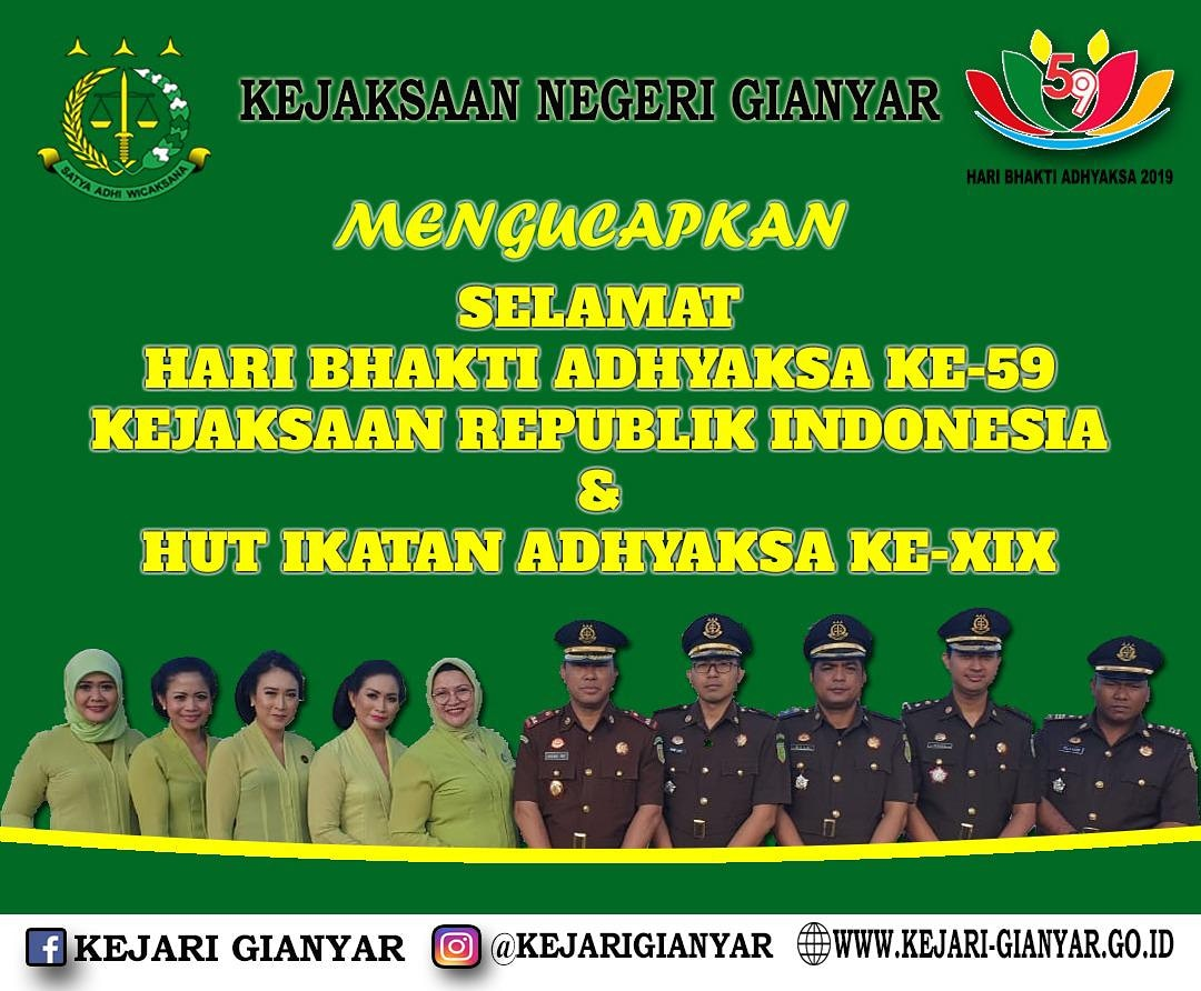 HARI BAKTI ADHYAKSA KE-59 TAHUN 2019